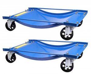 2 chariots de manutention pour voiture chariot de visite 450kg de la marque Herkules Werkzeuge image 0 produit
