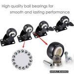 4 roulette pivotantes dont 2 avec freins - 40mm - Avec double verrouillage de sécurité - Roues silencieuses en et chlorure de polyvinyle - Très résistantes - Capacité de charge de 150 kg. de la marque ZG-HOME image 1 produit