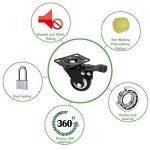 4 roulette pivotantes dont 2 avec freins - 40mm - Avec double verrouillage de sécurité - Roues silencieuses en et chlorure de polyvinyle - Très résistantes - Capacité de charge de 150 kg. de la marque ZG-HOME image 4 produit