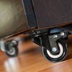 4 roulette pivotantes dont 2 avec freins - 40mm - Avec double verrouillage de sécurité - Roues silencieuses en et chlorure de polyvinyle - Très résistantes - Capacité de charge de 150 kg. de la marque ZG-HOME image 6 produit