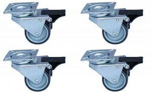 4 Roulettes Pivotantes pour Meubles, Chariots, Corbeille de Plage, Atelier, Charge max. 300kg, Diamètre 50mm de la marque Artecsis image 0 produit