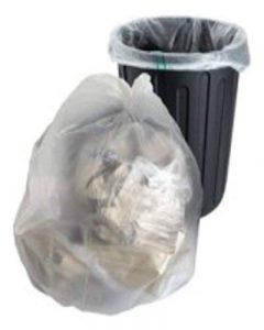 50sachets en polyéthylène robuste en plastique transparent Sacs poubelle à grand Sacs Taille 45,7x 73,7x 99,1cm Poubelle Poubelle Poubelle recyclage de la marque UKPS image 0 produit