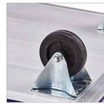 Ali Lamps@ Chariot à main Chariot à plat Pliage de matériau en alliage d'aluminium Tirer les marchandises Chariot Plaque d'acier Chariot de manutention Chariot à plat de quatre cartouches Chariot Charge 150 ~ 300 kg ( taille : S-74*48*80CM ) de la marque image 4 produit