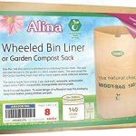 Alina 140L Papier compostables à roulettes Sac poubelle de jardin/compost Sac/Poubelle à roulettes Premium/biodégradables Marron 140L Sac en papier avec Alina Guide de compostage, 8 sacks de la marque Alina image 4 produit