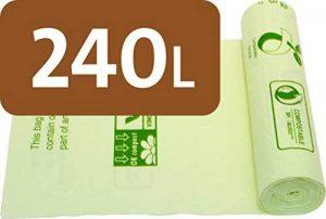 Alina 240L compostables à roulettes Sac poubelle/déchets de jardin Compost Sac/sac poubelle biodégradable Vert 240litre Sac avec Alina Guide de compost, 13 sacks de la marque Alina image 0 produit