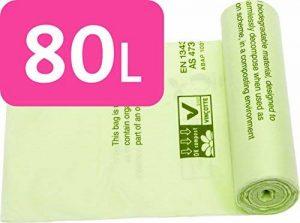 Alina 80L compostables Sac poubelle/déchets de jardin Compost Sac/sac poubelle à compost biodégradable Vert Sac de 80litre avec Alina Guide de compost, 13 sacks de la marque Alina image 0 produit