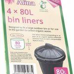 Alina 80L compostables Sac poubelle/déchets de jardin Compost Sac/sac poubelle à compost biodégradable Vert Sac de 80litre avec Alina Guide de compost, 13 sacks de la marque Alina image 2 produit