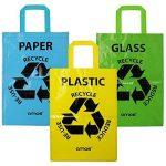AMOS Lot de 3 Sacs Réutilisables 53L de Recyclage avec Poignées Séparateurs de Déchets pour Tri Sélectif du Papier Plastique Verre de la marque Amos image 2 produit