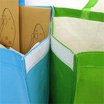 AMOS Lot de 3 Sacs Réutilisables 53L de Recyclage avec Poignées Séparateurs de Déchets pour Tri Sélectif du Papier Plastique Verre de la marque Amos image 3 produit