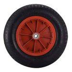Anaelle Panana Roue Pneumatique en Caoutchouc pour Brouette Diable Chariot, Noir+Rouge de la marque Anaelle Panana image 1 produit