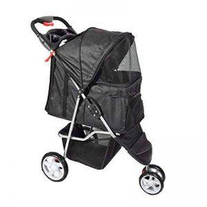 Anaelle Pandamoto Poussette Chariot pour Chien Chat Animaux Pliable Imperméable en Nylon, Taille: 70 x 45 x 99cm, Poids: 5kg, Noir de la marque Panana image 0 produit