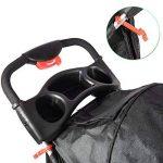 Anaelle Pandamoto Poussette Chariot pour Chien Chat Animaux Pliable Imperméable en Nylon, Taille: 70 x 45 x 99cm, Poids: 5kg, Noir de la marque Panana image 2 produit