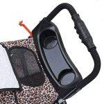 Anaelle Pandamoto Poussette Chariot pour Chien Chat Animaux Pliable Imperméable en Nylon, Taille: 75 x 45 x 97cm, Poids: 5kg (Léopard) de la marque Panana image 6 produit