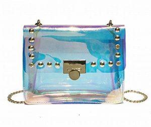 AWESAMA Fashion femmes filles Laser sac à bandoulière clair pour le travail, école, partie de la marque AWESAMA image 0 produit