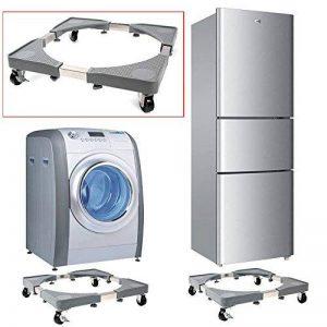 Base de machine à laver réfrigérateur Chariot Roller réglable Support avec 4 Roulettes en caoutchouc 46 - 65 x 46 - 65 cm pour sèche-linge Machine à laver rotatif réfrigérateur et autres Appareils de la marque Malayas image 0 produit