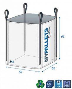 Big Bag gravats et déchets verts 500kg 55X55X65 | Lot de 5 en Livraison Gratuite de la marque MyPalletsOnline image 0 produit