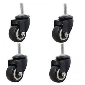 BQLZR 3,8cm Dia Noir PU Roulette pivotante Roues chariot de chargement de 60kg chaque Roue meubles Caster Boulon M8Lot de 4 de la marque BQLZR image 0 produit