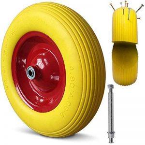 Brouette roue PU 4.80/4.00-8 4PR essieu rigide roue caoutchouc roue de secours de la marque Deuba image 0 produit