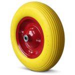 Brouette roue PU 4.80/4.00-8 4PR essieu rigide roue caoutchouc roue de secours de la marque Deuba image 1 produit