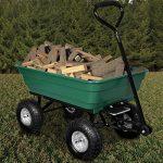 Brouette verte - Chariot de jardin avec fonction d'inclinaison, essieu directeur et pneumatiques de la marque Deuba image 2 produit