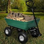 Brouette verte - Chariot de jardin avec fonction d'inclinaison, essieu directeur et pneumatiques de la marque Deuba image 3 produit