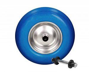 Caoutchouc roue PU de Brouette 390mm 4.80/4.00–8avec axe Jante en acier bleu de la marque myowntrade image 0 produit