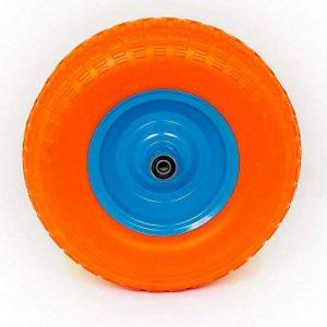 Caoutchouc roue PU de roue de brouette avec axe caoutchouc plein 4.00–62pr 400–6 de la marque POKM Toolsmarket GmbH image 0 produit