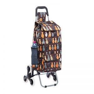 Chariot de course, poussette de marché 6 roues coloris marron avec motif chats 43L de la marque Wedestock image 0 produit
