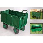 Chariot de jardin bâché grillagé 4 roues de la marque Pratik garden image 3 produit