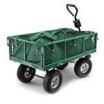 Chariot de jardin à main 300kg avec bâche amovible et grilles remorque de transport charette de la marque WilTec image 1 produit