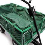 Chariot de jardin à main 300kg avec bâche amovible et grilles remorque de transport charette de la marque WilTec image 2 produit