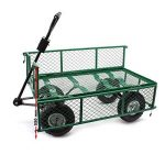 Chariot de jardin à main 300kg avec bâche amovible et grilles remorque de transport charette de la marque WilTec image 4 produit