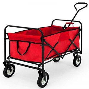 Chariot de transport jardin pliable avec ou sans toit bleu rouge Charrette à main - Chariot transport bricolage de la marque Deuba image 0 produit