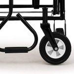 Chariot de transport jardin pliable avec ou sans toit bleu rouge Charrette à main - Chariot transport bricolage de la marque Deuba image 2 produit