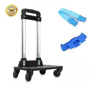 Chariot à dos - Chariot à main à roulettes avec roulettes 360 pour enfants Sacs d'école pour enfants, Chariot à bagages Chariot de voyage avec sangles à boucles (4 roues) de la marque IvyH image 0 produit
