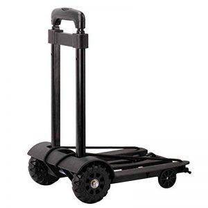 Chariot pliable de bagage de main avec la capacité de charge forte Maintenez le chariot de chariot à achats de bagage avec la poignée extensible Bungee flexible pour déplacer les articles lourds , black , 97*25*34cm de la marque WANGXN image 0 produit