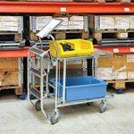 Chariot professionnel Grille Chariot de qualité industrielle–Chariot de transport–Chariot empilable de la marque Erhard-Trading Industriebedarf image 3 produit