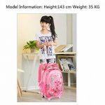 chariot sac à dos Enfants à roulettes avec housse de pluie pour les garçons et les filles de l'école de la marque JOYIN image 2 produit