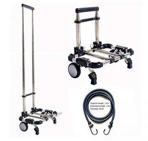 Chariot télescopique pliant haute résistance pour bagages, courses, aéroport en alliage d'aluminium avec capacité de 30kg par Eunicom de la marque Eunicom image 0 produit