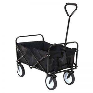 Charles Bentley - Chariot pliable avec poignée - charge 70 kg - noir - L 87 x l 55 x H 59 cm de la marque Charles Bentley image 0 produit