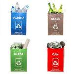 Chemins de recyclage déchets Sacs Poubelle pour bureau de cuisine en Home–Recyclez Garbage poubelles de tri Organiseur étanche paniers Compartiment à nourriture Big Taille 4Sacs de Lot de de la marque ANUANT image 3 produit