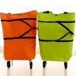 Comfysail Chariot De Courses Pliable ultra léger Sac 2 en 1 Cabas Shopping ,Couleur vert (Polka Verte) de la marque Comfysail image 4 produit