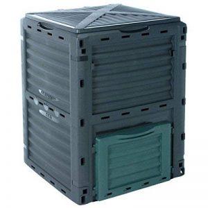 Composteur, Vert Poubelle à compost de jardin, 300l, 83x 61x 61cm de la marque EMAKO image 0 produit