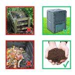 Composteur, Vert Poubelle à compost de jardin, 300l, 83x 61x 61cm de la marque EMAKO image 3 produit