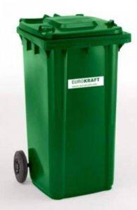 Conteneur à déchets en plastique conforme à la norme DIN EN 840 - capacité 240 l, h x l x p 1067 x 580 x 730 mm vert, 5 pièces et + - collecteur d'ordures collecteur de déchets conteneur à déchets conteneur à ordures poubelle poubelle à déchets poubelle à image 0 produit