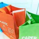 Corbeille–étanche séparé Sac de recyclage déchets paniers Ensemble de 3couleurs de la marque LIVINGTOPIA image 1 produit