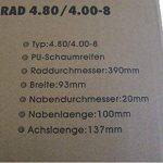 D&F Roue de brouette pneumatique de la marque D&F image 4 produit