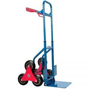 Diable repliable extensible 200kg 3 roues - Transport Chariot pliable escalier de la marque Deuba image 0 produit