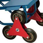 Diable repliable extensible 200kg 3 roues - Transport Chariot pliable escalier de la marque Deuba image 2 produit