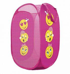 Dinzio Panier à linge pour enfants, poubelle de stockage, fille ou garçon, Tissu, Emoji Funy, Taille unique de la marque DINZIO image 0 produit